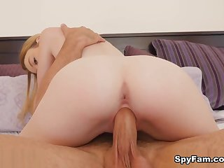 Kenzi Kellie in Stepdad Punishes Stepdaughter After Finding Dildo - SpyFam